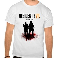 Camiseta Branca Game Resident Evil 7 Re Vii