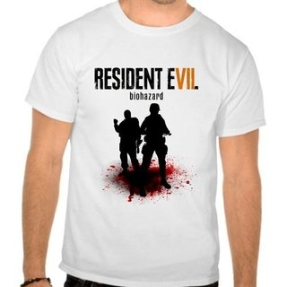 Camiseta Branca Game Resident Evil 7 Re...
