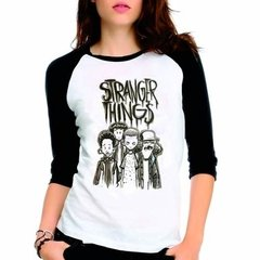 Camiseta Stranger Things Kids Raglan Babylook 3/4