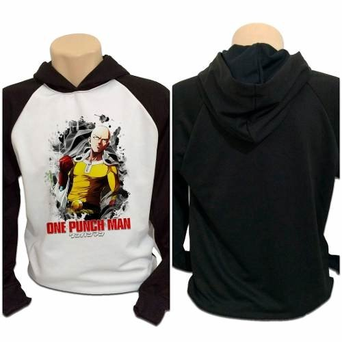 Casaco Blusa Moletom Anime One Punch Man Saitama