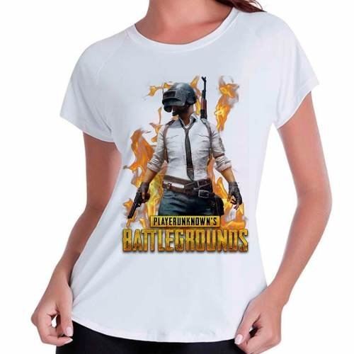 Camiseta Babylook Playerunknown's Battlegrounds Pub