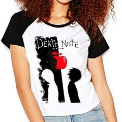 Camiseta Anime Death Note V02 Raglan Babylook