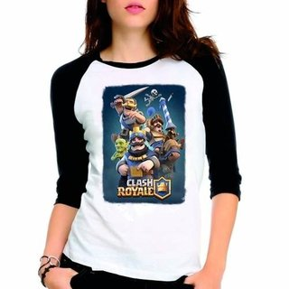 Camiseta Clash Royale Jogo Gamer Mobile...