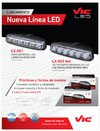 Vic LX-502SET - SET DE FAROS UNIVERSALES LED LUZ CIRCULACIÓN DIURNA (DAY RUNNING LIGHT)