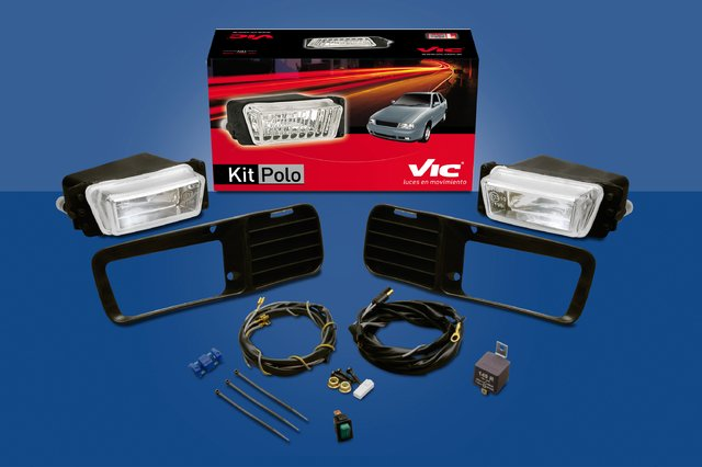 Vic 800 - KIT DE 2 FAROS AUXILIARES ANTINIEBLA POLO CLASSIC/ CADDY (96/00) LÁMPARA H3