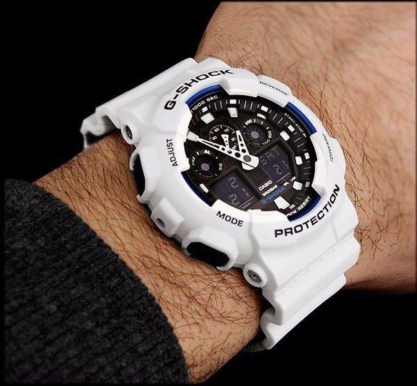 b5f0a67dc1a Relógio Casio G-shock Ga-100 Branco - Primeira Linha