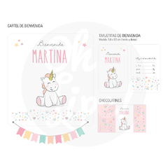 Kit Nacimiento con chocolates -Unicornio-