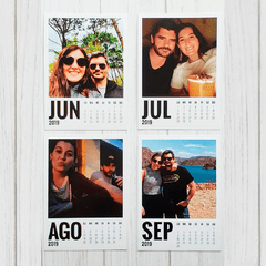 Calendario con fotos tipo polaroid en internet