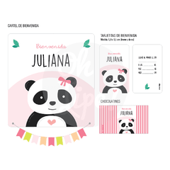 Kit con Alcohol -Panda Rosa-