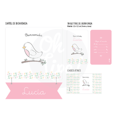 Kit Nacimiento con Alcohol en gel -Pajarita-
