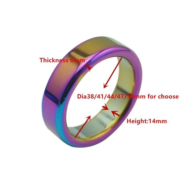 Titanium Plated Cock Ring- Cod: 1956-16 - Extasy Sex Shop