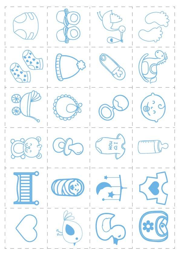 Juegos Baby Shower Digital Comprar En Estudio Papel