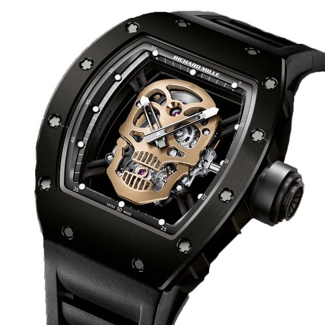 878d934a630 Relógio Richard Mille Skull