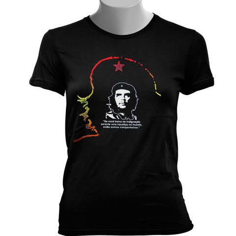 CAMISETA BABY LOOK DO CHE GUEVARA: INDIGNAÇÃO - Dom Camisetas