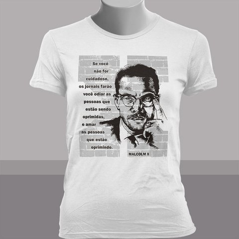 CAMISETA BABY LOOK DO MALCOLM X - comprar online