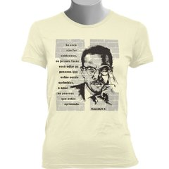 CAMISETA BABY LOOK DO MALCOLM X na internet