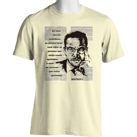 CAMISETA UNISSEX DO MALCOLM X - Dom Camisetas