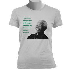 CAMISETA BABY LOOK DO NELSON MANDELA - Dom Camisetas