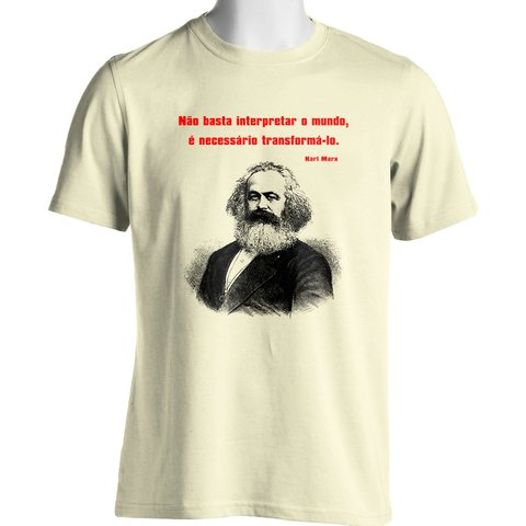 CAMISETA UNISSEX DO KARL MARX: TRANSFORMAR O MUNDO - Dom Camisetas