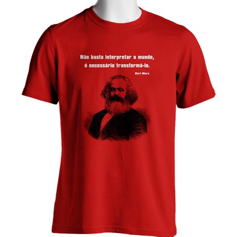 CAMISETA UNISSEX DO KARL MARX: TRANSFORMAR O MUNDO na internet