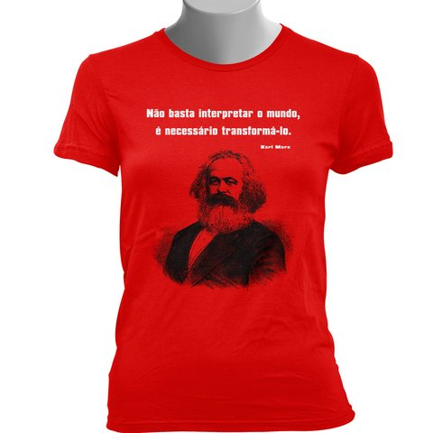 CAMISETA BABY LOOK DO KARL MARX: TRANSFORMAR O MUNDO - Dom Camisetas