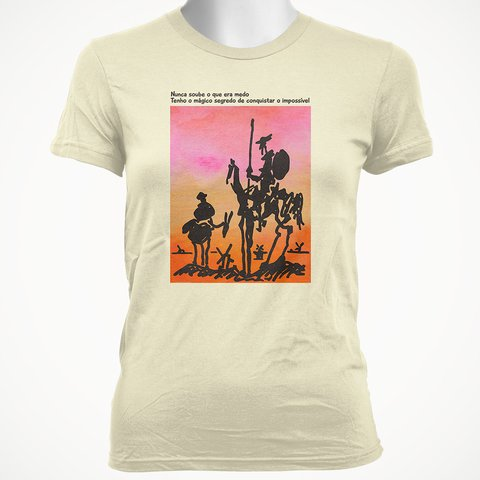 CAMISETA BABY LOOK DO DOM QUIXOTE: MÁGICO SEGREDO na internet