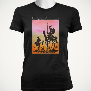 CAMISETA BABY LOOK DO DOM QUIXOTE: MÁGICO SEGREDO