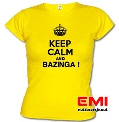 Imagem do Camiseta Engraçada Keep Calm And Bazinga ! 1718