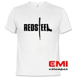 Camiseta Games Red Steel na internet