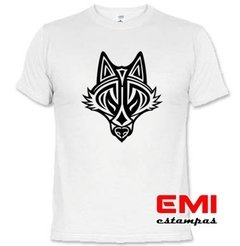 Camiseta Animais Lobo Tribal 1902
