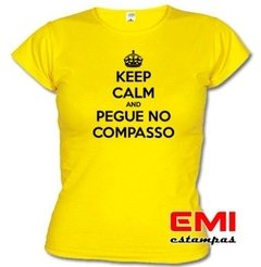 Camiseta Engraçada Keep Calm And Pegue No Compasso 1727 - comprar online