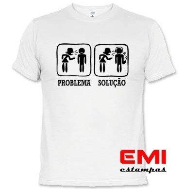 3c626d4e95b84 Camisetas Engraçadas Problema Solução 1736