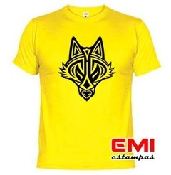 Camiseta Animais Lobo Tribal 1902 na internet