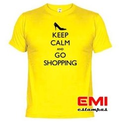 Imagem do Camiseta Engraçada Keep Calm And Go Shopping 1708