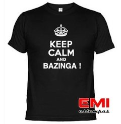 Camiseta Engraçada Keep Calm And Bazinga ! 1718 na internet