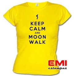 Imagem do Camiseta Engraçada Keep Calm And Moon Walk Michael Jackson
