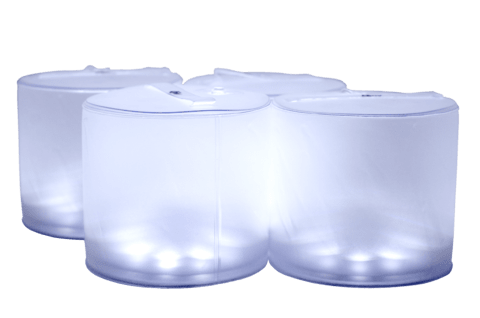 Luz Solar Inflable Bayo - Set de 4 Luces Led Blancas
