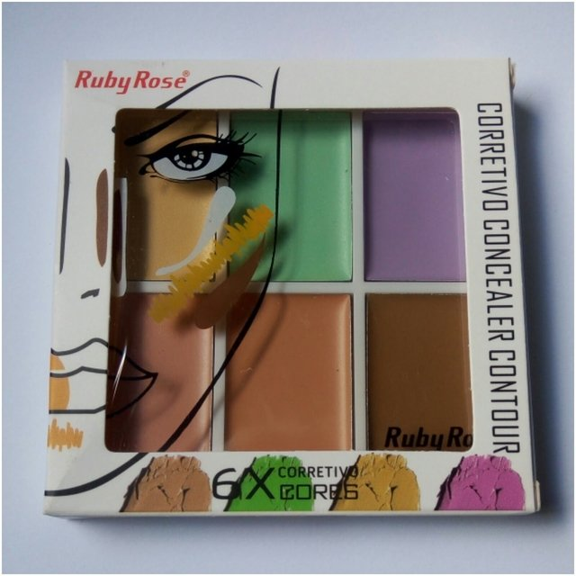Corretivo Paleta 6 Contornos Color - Ruby Rose