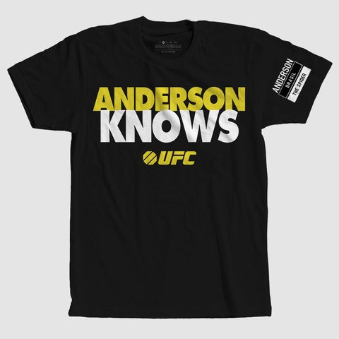 camiseta anderson knows the spider camisa mma ufc