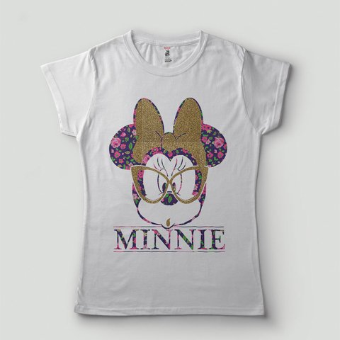 Blusa T-Shirt Minnie De Oculos Geek Estampada