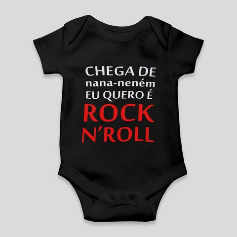 body divertido chega de nana nenem rock n roll unissex
