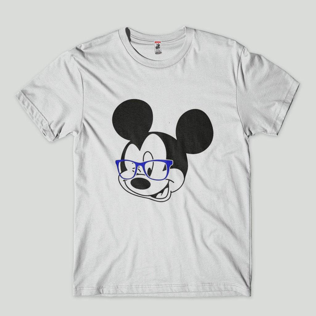 a8f3cd0cdc camisa estampa mickey geek de oculos branca
