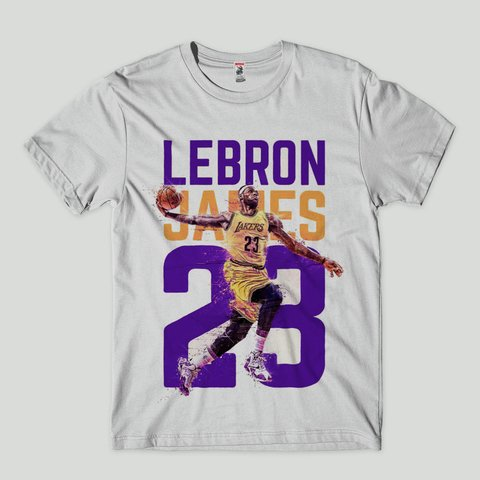 camisa masculina lebron james lakers basquete nba