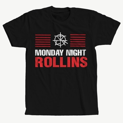 Camisa Monday Night Rollins Wwe Pro-Wrestling Camiseta Blusa