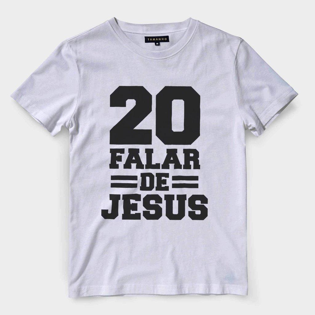 ... camiseta evangelica masculina camisa gospel jesus numero 20 - loja  online ... 097b865344b05