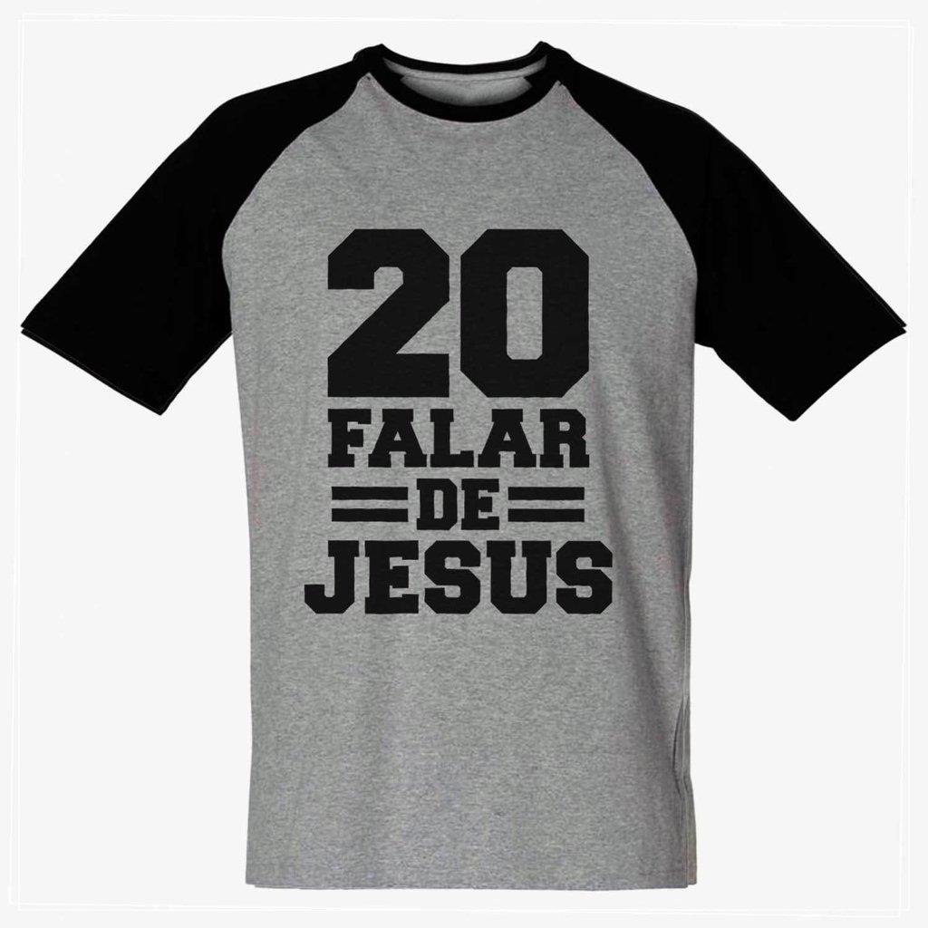 0ee587c679de Camiseta 20 Falar De Jesus Raglan Religiosa Gospel