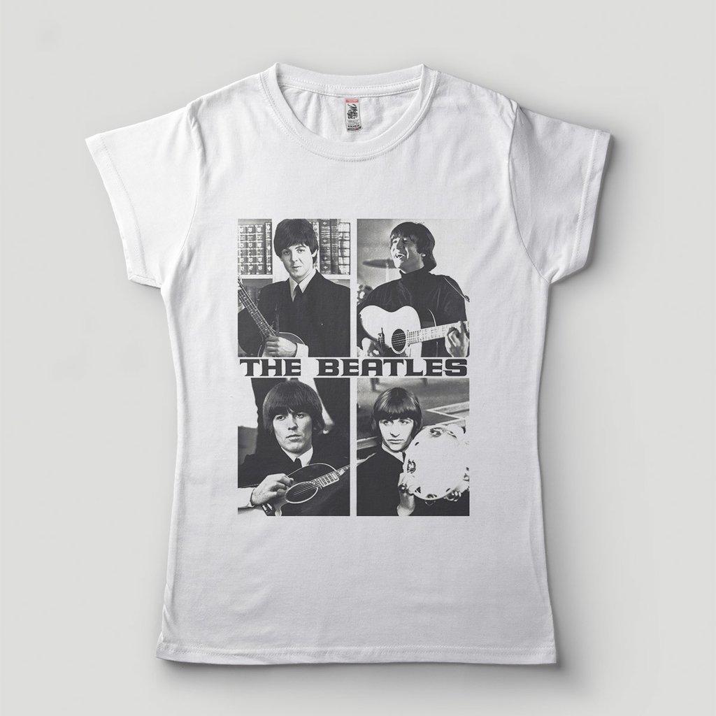 3d7b7518a camiseta beatles feminina branca bandas de rock galeria