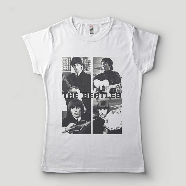 811441175bc camiseta beatles feminina branca bandas de rock galeria