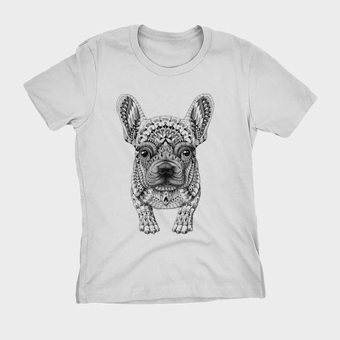 Camiseta Camisa Animal Cachorro Buldogue Francês Bulldog na internet