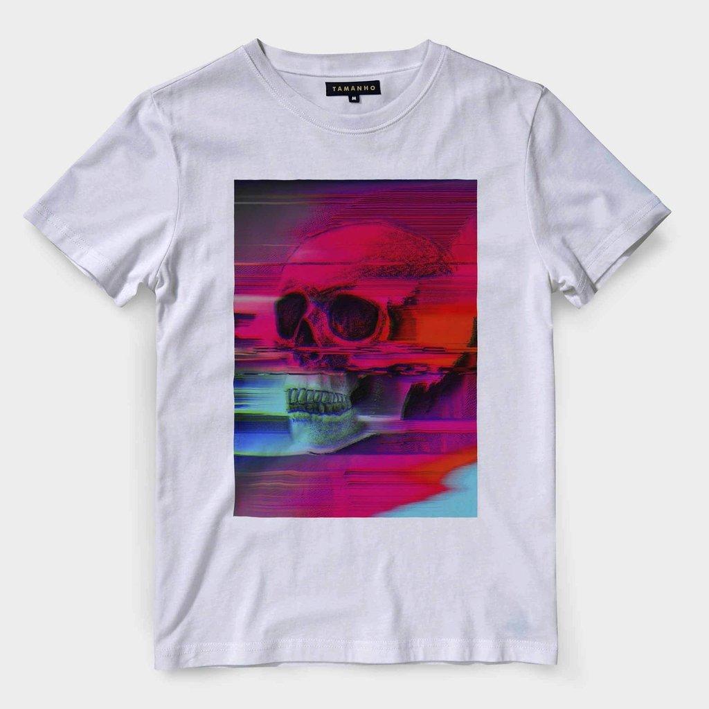 06c33773e Camiseta Caveira Masculina Barata Blusa Camisa Manga Curta